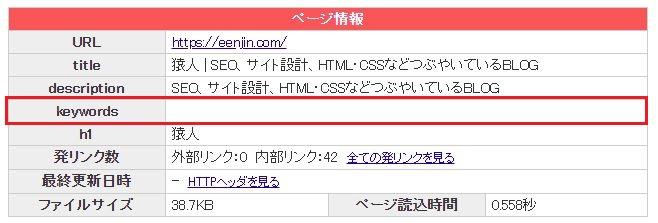 賢威8.0メタキーワード設定